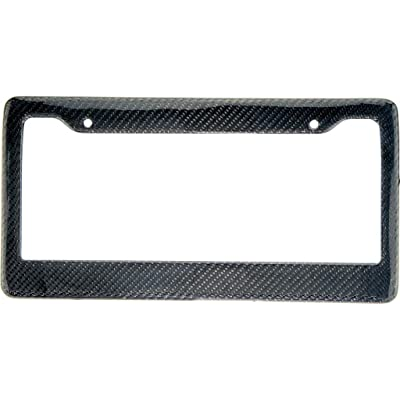 BLVD-LPF OBEY YOUR LUXURY Real 100% Carbon Fiber License Plate Frame Tag Cover FF - C with Matching Screw Caps - 1 Frame (Black): Automotive