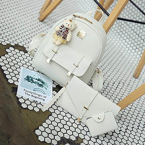 Weilong Teens School Backpack Set PU and Nylon Girls School Bags, Bookbags Set of 3, - Cute Sunglasses Girls With