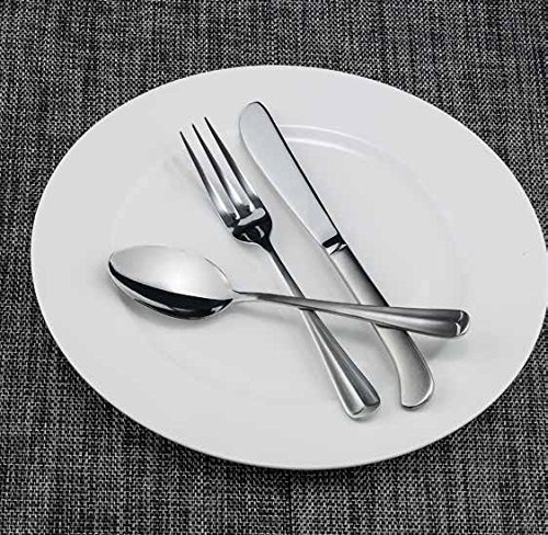 Winco Lafayette 3 Dozen Flatware Set, Extra Heavy 18-0 Stainless Steel Classic Old-Fashioned Dinner Spoons (Dozen Pack), Dinner Forks (Dozen Pack) and Dinner Knives (Dozen Pack), 36-Piece Set - 18/0 Stainless Steel Dinner