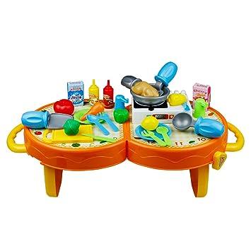Küchen zubehör kinder  BOWA 31 teilig Küchen Spielzeug Set Küchen zubehör Stellen Sie ...