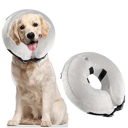 A-Waroom - Cuello Hinchable para Perros y Gatos, Suave recuperación de Mascotas E