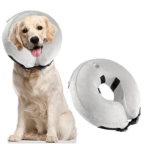 A-Waroom - Cuello Hinchable para Perros y Gatos, Suave ...