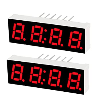 "2pcs 4 Digit Common Anode 1 inch RED LED digital display 1.0/"" 7 Segment"