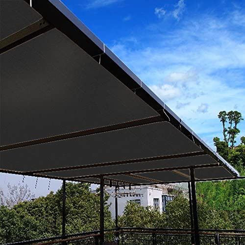 Ecover 90/% Shade Cloth Black Sunblock Fabric Cut Edge with Free Cilps UV Resistant for Patio//Pergola//Canopy 8x12ft