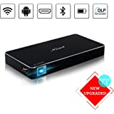 New 1 Projector, Mini Portable Pocket Projector with 120 inch Display - HD Mobile Pico Video Projector for iPhone Laptop Support 1080P Bluetooth HDMI USB TF Card – Include Warranty