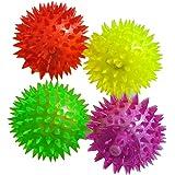 Coscelia 1pc Balles Rebondissantes Hérisson Lumineuses Jeux Jouet Enfant Bébé