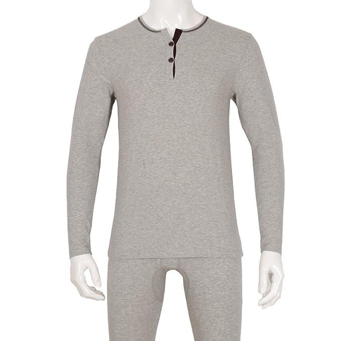 Set colores sólidos t masculina de ropa interior otoño/invierno/ ropa interior/ caída de Johns largo traje de ropa: Amazon.es: Ropa y accesorios