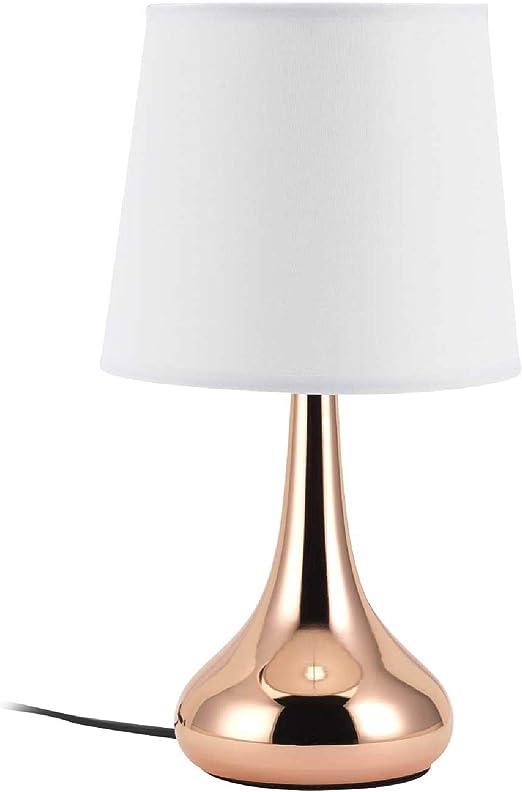 Mathias 3474255 - Lámpara de mesilla de noche, metal, 40 W, cobre ...