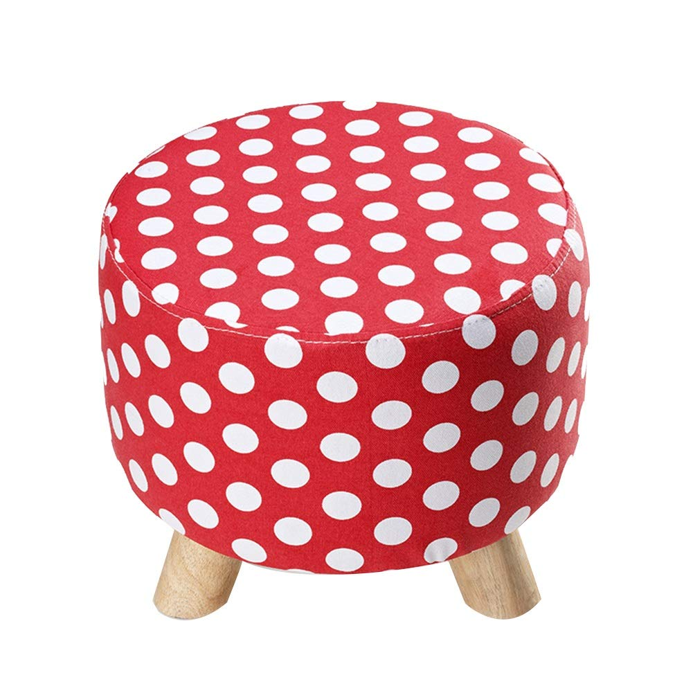 Red 30cm A WEIYV-Barstools,bar Chair Triangle Small Stool Washable Change shoes Stool European Style Cloth Sofa Stool Wearing shoes Low Stool Solid Wood Seat (30 39cm) (color   Green 30cm, Size   A)
