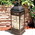 Smart Design San Nicola Lantern with LED Candles