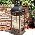 Smart Design San Nicola Lantern with LED Candles
