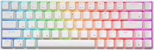 RK ROYAL KLUDGE RK68 RGB Wireless/Wired 65% Compact Mechanical Keyboard, 68 Keys Bluetooth Gaming Office Keyboard with Macro Keys and Rechargeable Battery for Windows and Mac,Gateron Red Switch,White
