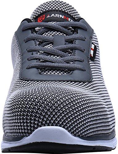 Zapatos De Seguridad De Trabajo Con Punta De Acero De Modyf Zapatos De Seguridad Transpirables Ocasionales De Casual Flyknit Gris