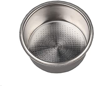 Stainless Steel Coffee Filter, Double Cup Coffee 51mm non-pressurized Porous Filter Basket