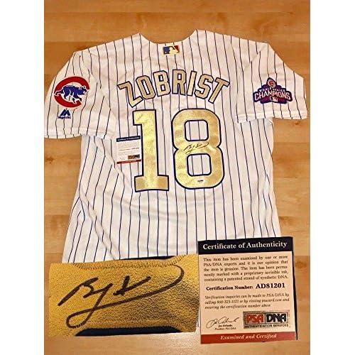 reputable site 5b37e 2f517 Autographed Ben Zobrist Jersey - Gold World Series CERT ...