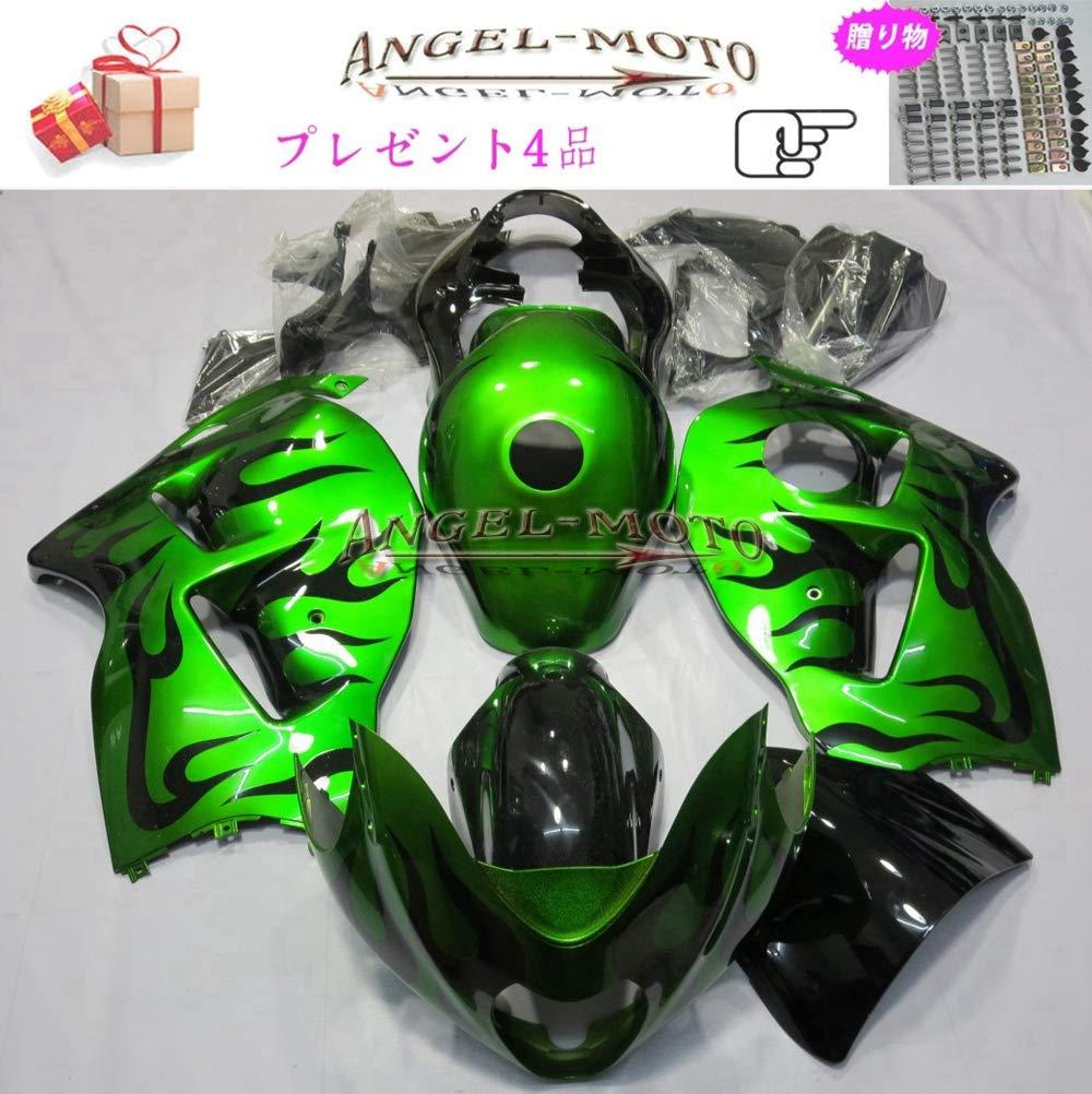 Angel-moto バイク外装パーツ 対応車体 Suzuki スズキ GSXR1300 Hayabusa 1997-2007 GSX-R1300 97-07 カウル フェアキット ボディ機械射出成型ABS樹脂 フェアリング パーツセット フルカウルセットの S130   B07JLQ7H4F