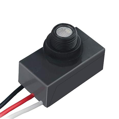 120-277v led photocell dusk to dawn outdoor swivel cell light control  photocell sensor (photocell) - - amazon com
