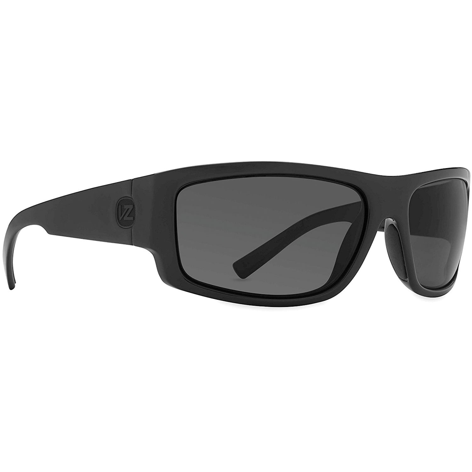 VON ZIPPER SEMI SUNGLASSES Black Satin-Grey Wildlife Polarized LensAUTHENTIC by Unknown