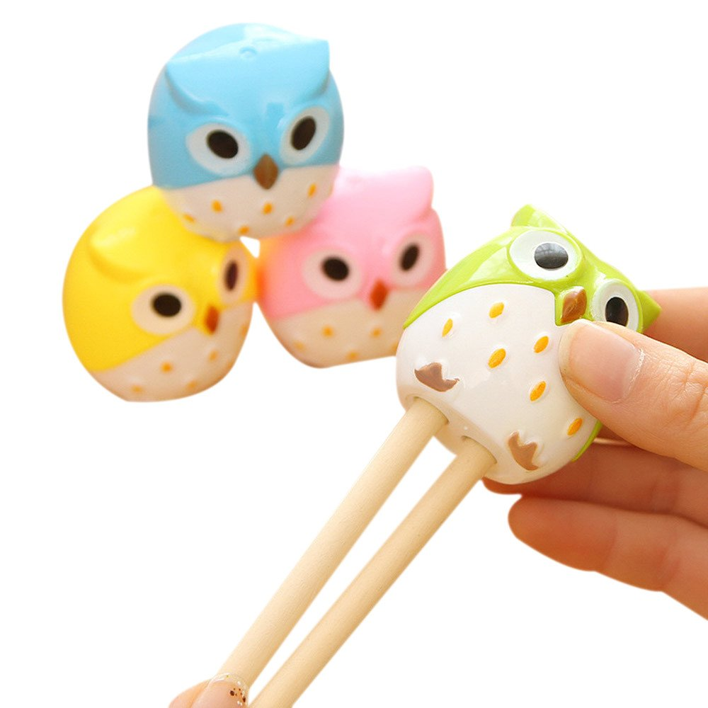 Cute Cartoon Animal Owl Pattern Double Holes Pencil Sharpeners Creative Stationery School Prize for Kids (Random Color)