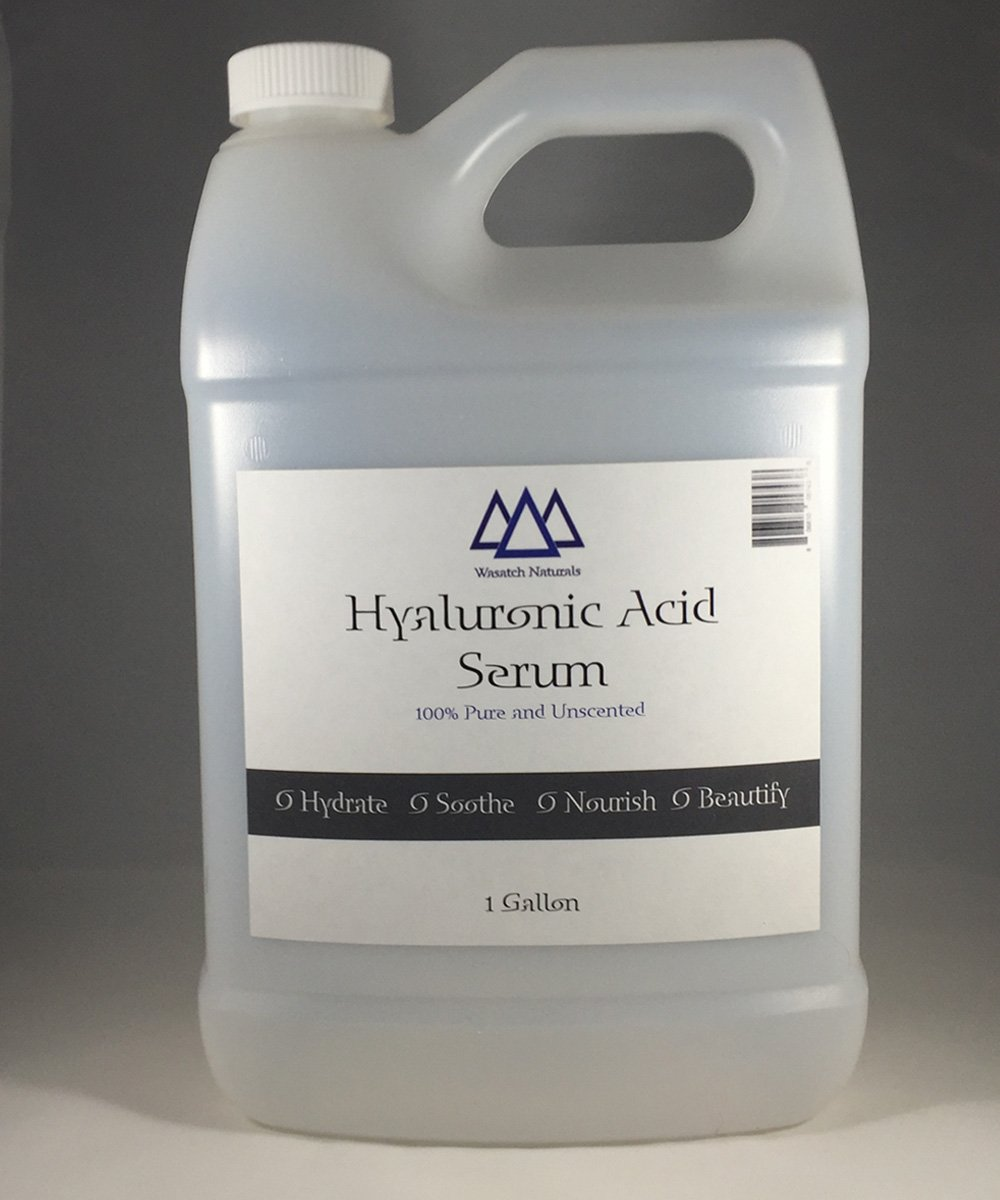 Hyaluronic Acid Serum 1 Gallon Pure Unscented Wasatch Naturals Brand