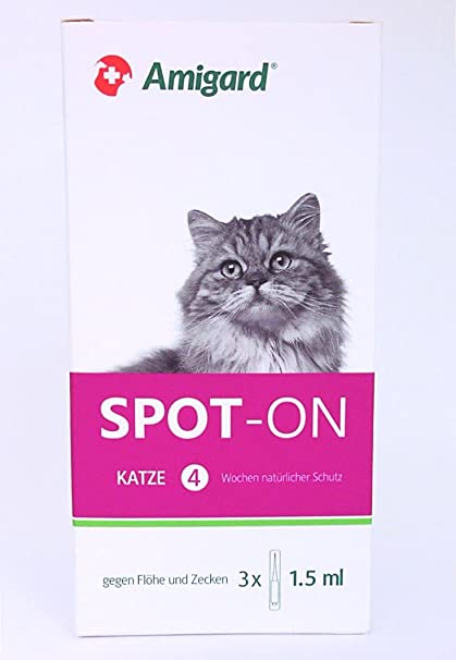 Pipeta Amigard Spot-on para gatos, 3 x 1,5ml