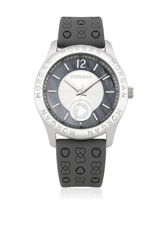 Morgan De Toi Damen-Armbanduhr M1132E – Zifferblatt Grau – Armband Kunststoff grau