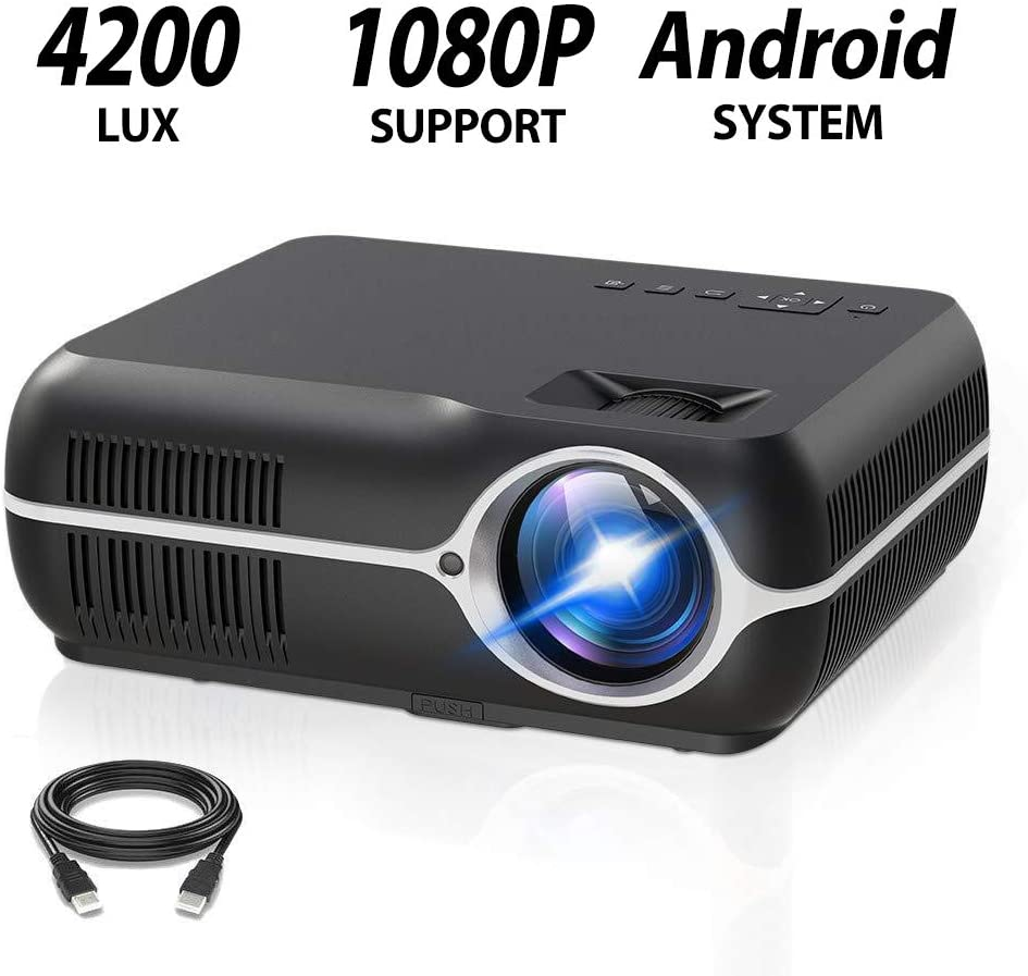 1080P Android LED Projector Multimedia WiFi Bluetooth Home Theater Cinema LOT LJ