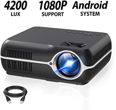 LOT 4K Wifi Wireless Projector Android 6.0 1080P HD Smart Home Theater HDMI 8GB~