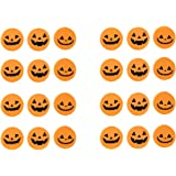 BinaryABC Halloween Pumpkin Eraser,Mini Pumpkin Erasers,Halloween Supplies,24pcs