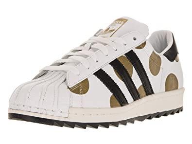 b68165f4f0c7 Jeremy Scott Adidas Men s Originals Superstar 80s Ripple Shoes Size 9 White  Black Gold