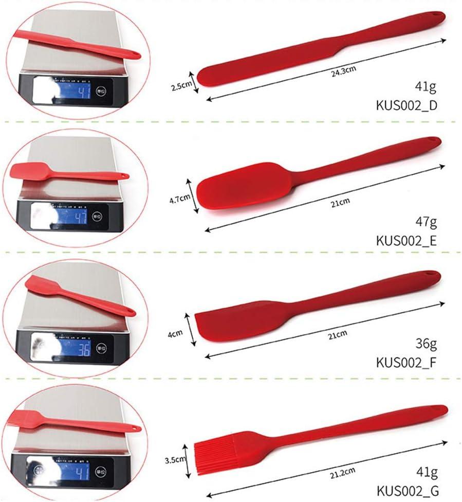 esp/átulas de Cocina para Utensilios de Cocina antiadherentes 7 esp/átulas Resistentes al Calor TOPmountain Juego de esp/átulas de Silicona Juego de esp/átulas para Hornear