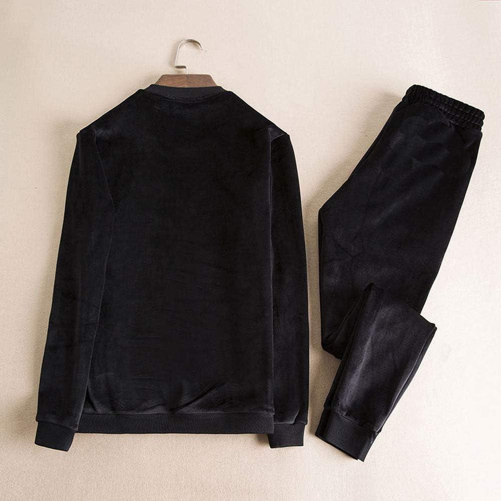 Mens Casual 2 Pieces Sports Sets Tops /& Pants Active Tracksuit Set Jogging Sweatsuit Sportswear
