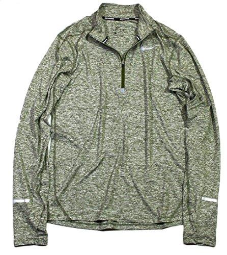 NIKE ナイキ DRI-FIT エレメント ハーフジップ トップ ゴルフウェア 長袖シャツ Lサイズ(176-183cm) 国内正規品 904947 リージョングリーン