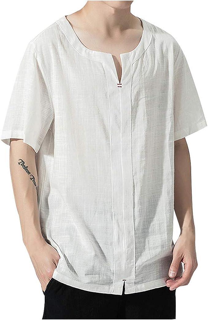 HucodeVan Camisas Manga Corta Hombre Casual Transpirable ...