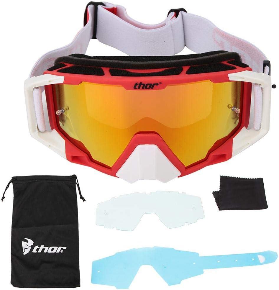 Tbest Gafas de Seguridad,Gafas de Moto Gafas Protectoras Ajustable Gafas de Motocross de Moda Protección de los Ojos Gafas de Antiviento para Moto Motocross Esqui Deporte