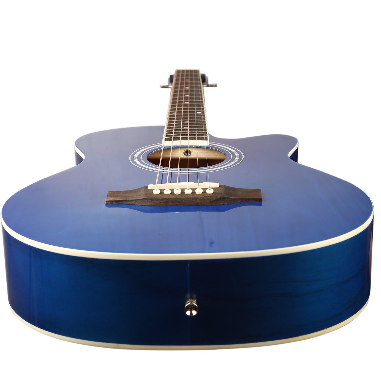 kadence frontier series blue acoustic guitar super bo foldable