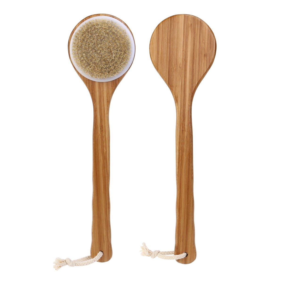 Tinksky Ba/ño ducha cepillo cuerpo cepillo cerdas Long bamb/ú Poignee