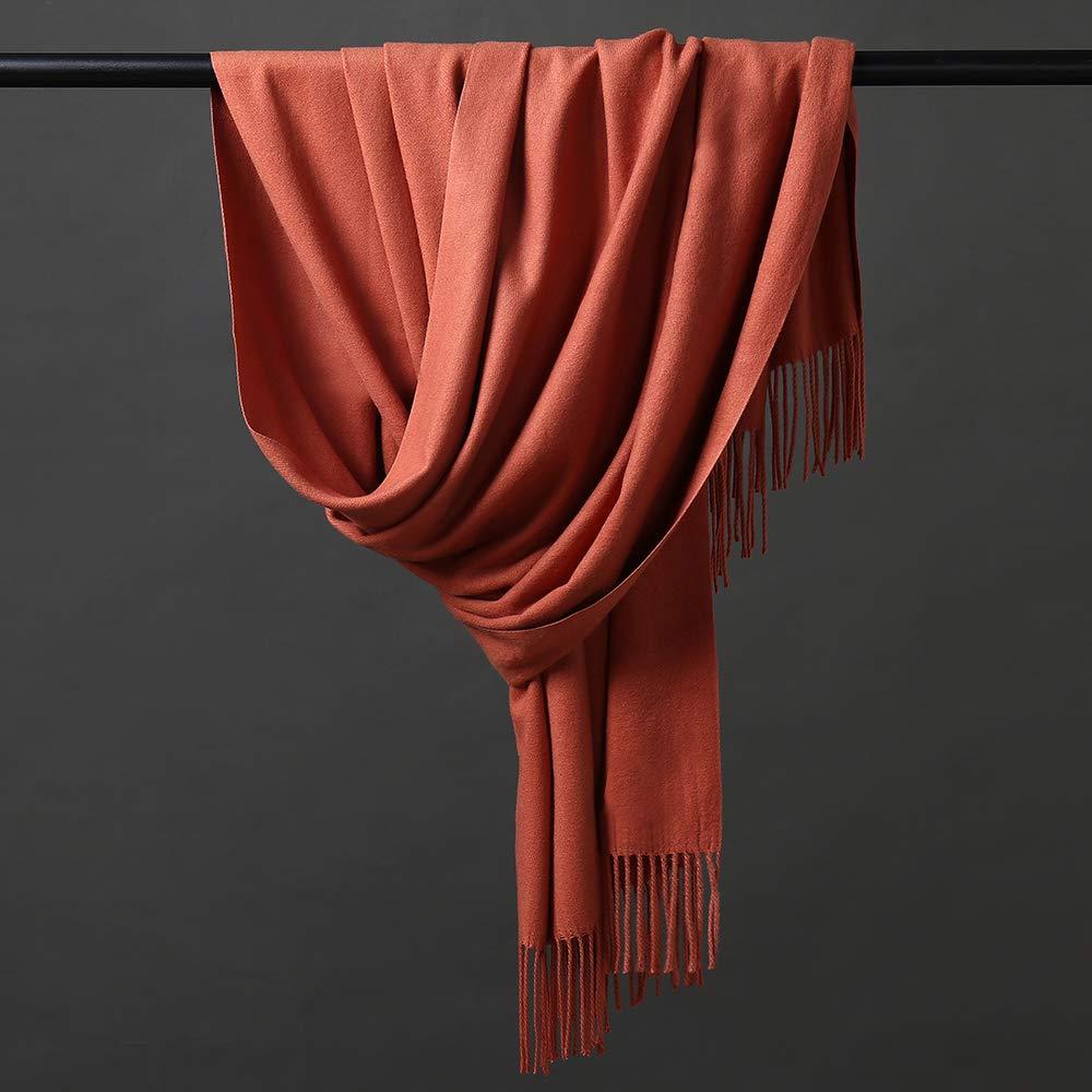 verschiedene Farben weich extra gro/ß HOYAYO Schal aus Kaschmirwolle Pashmina-Schal dick