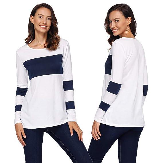 ALIKEEY-Top Shirt Blusas para Mujer Verano Negras Mujer Blusa De Manga Larga Botones Camisetas
