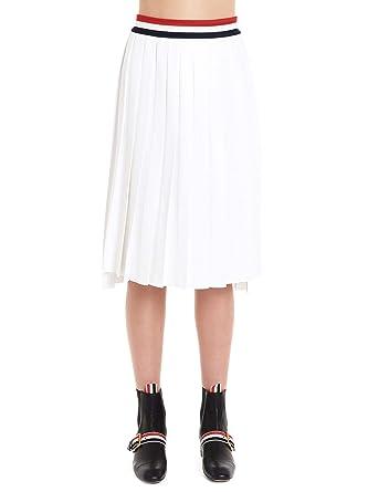 Thom Browne Luxury Fashion Mujer FKK043A03131100 Blanco Falda ...