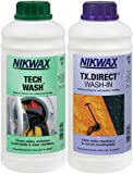 Nikwax Tech Wash & TX Direct Twin Pack for Cleaning and Waterproofing Outdoor Gear