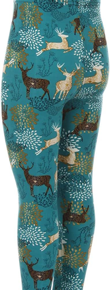 Girls Cute /& Funny Style Printed Leggings Comic Animal Aztec