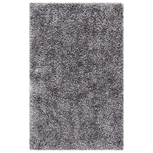 Safavieh New Orleans Shag Collection SG531-8080 Grey Polyester Area Rug 4 x 6