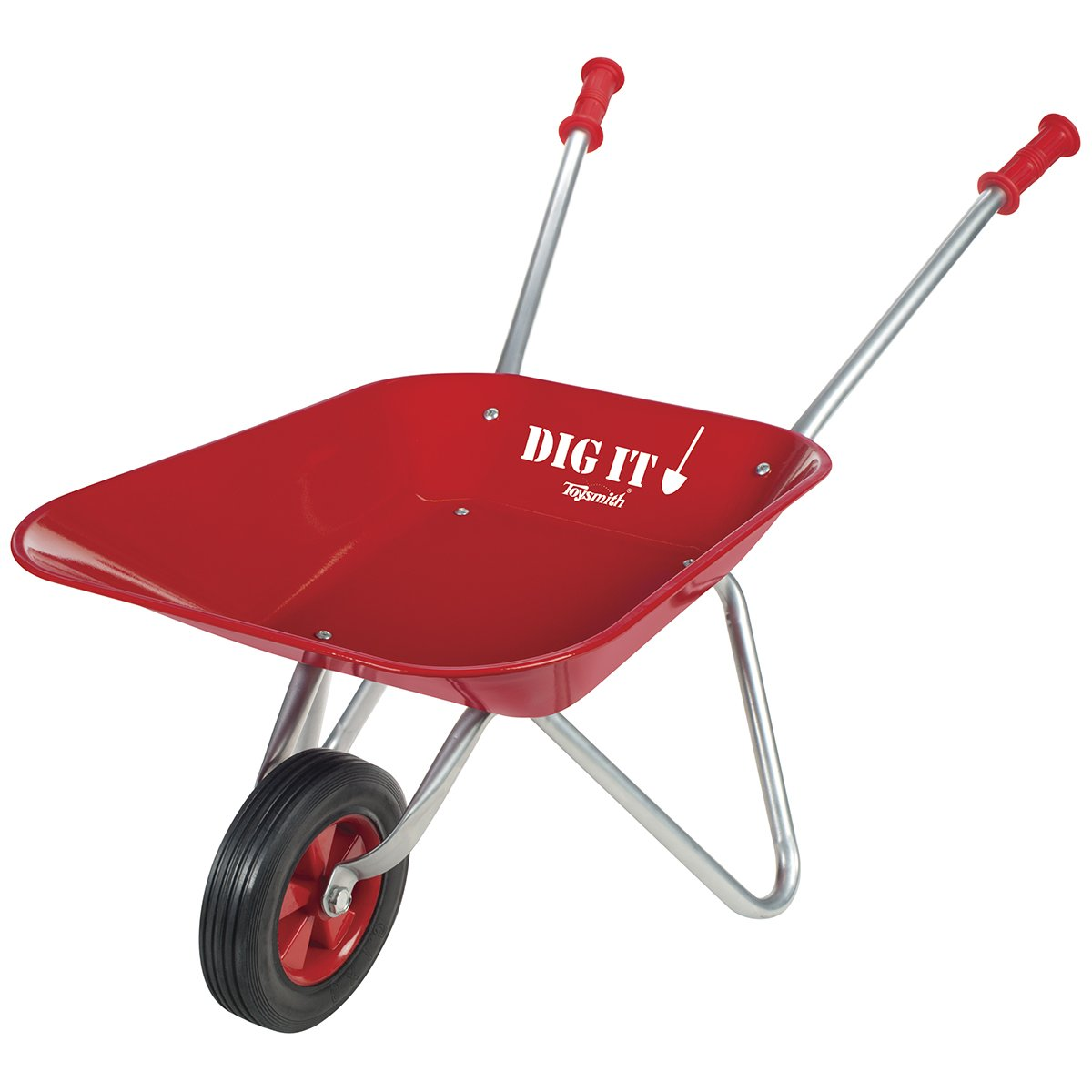 Toysmith Little Red Metal Wheelbarrow