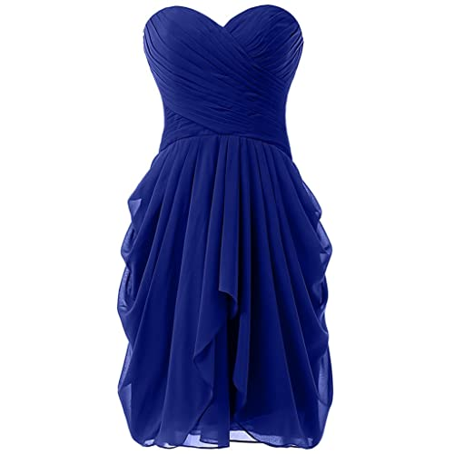 HONGFUYU Womens Ruched Evening Party Bridesmaid Dress Short Prom Dresses