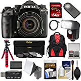 Pentax K-1 Mark II Full Frame Wi-Fi Digital SLR Camera & FA 28-105mm Lens with 64GB Card + Battery + Flash + Backpack + Tripod + Kit