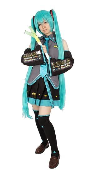 8-piece set M size VOCALOID Hatsune Miku Cosplay Costume with ...