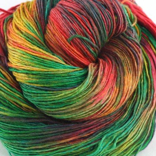 Darn Good Yarn, Sparkle Lace Weight Silk Yarn, 300 Yards, Watercolors, 50 Grams, 1 Skein