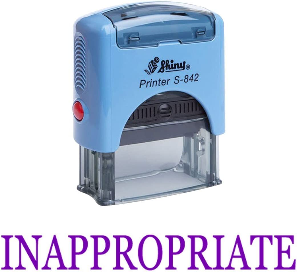 Inappropriate Self Inking Rubber Stamp Office Stationary Custom Shiny Stamp