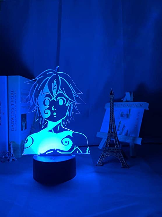SPSPUK 3D Anime Lamp Acrylic Night Light Manga The Seven
